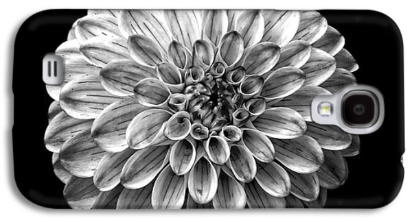 Dahlia  Flower Black And White Square Galaxy S4 Case