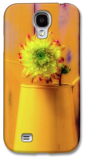 Dahlia In Yellow Pitcher Galaxy S4 Case