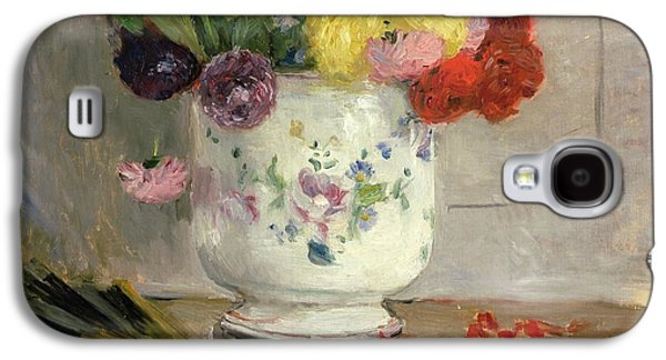 Dahlias Galaxy S4 Case by Berthe Morisot