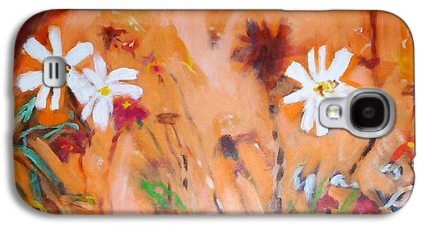 Daisies Along The Fence Galaxy S4 Case by Winsome Gunning