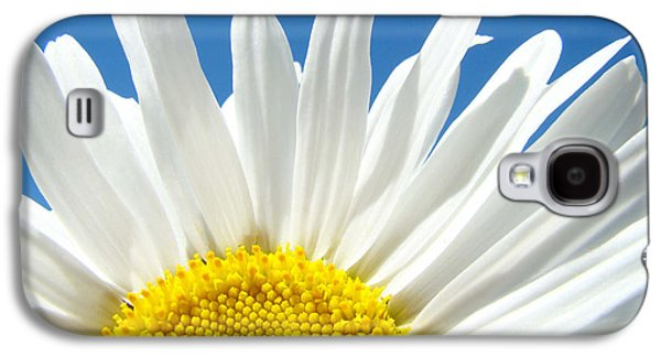 Daisy Art Prints White Daisies Flowers Blue Sky Galaxy S4 Case by Baslee Troutman