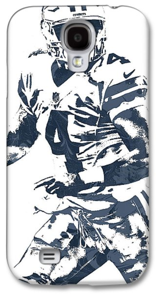 Dak Prescott Dallas Cowboys Pixel Art 3 Galaxy S4 Case by Joe Hamilton