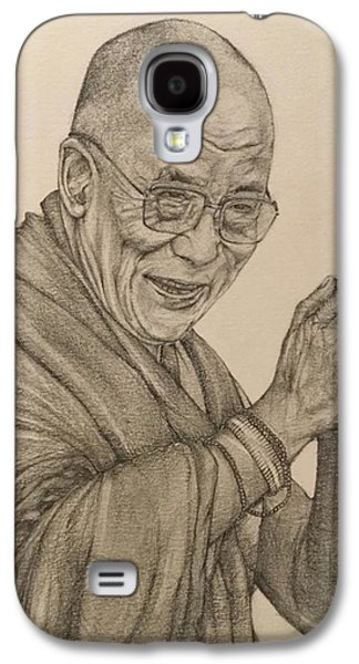 Dalai Lama Tenzin Gyatso Galaxy S4 Case by Kent Chua