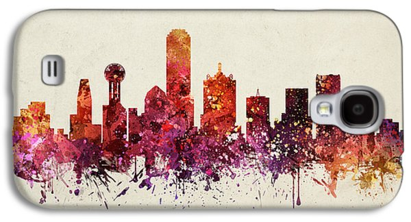 Dallas Cityscape 09 Galaxy S4 Case by Aged Pixel