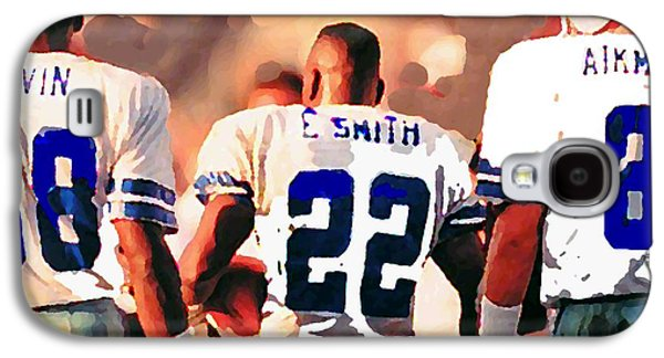 Nfl Galaxy S4 Cases - Dallas Cowboys Triplets Galaxy S4 Case by Paul Van Scott