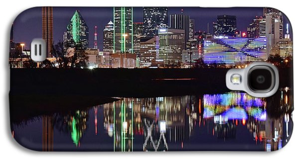 Dallas Reflecting At Night Galaxy S4 Case by Frozen in Time Fine Art Photography