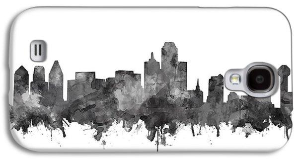 Dallas Skyline Black And White Galaxy S4 Case