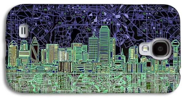 Dallas Skyline Abstract 4 Galaxy S4 Case