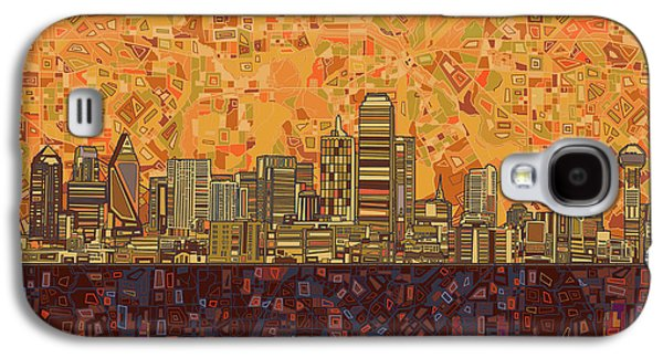 Dallas Skyline Abstract Galaxy S4 Case