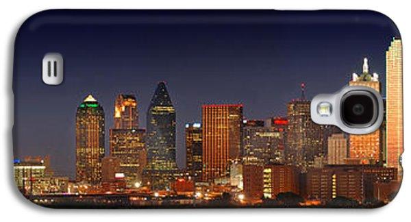 Dallas Skyline Galaxy S4 Case - Dallas Skyline At Dusk  by Jon Holiday