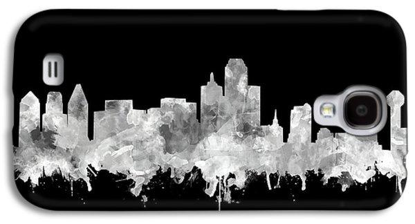 Dallas Skyline Black And White 2 Galaxy S4 Case