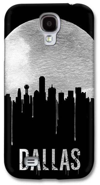 Dallas Skyline Black Galaxy S4 Case by Naxart Studio