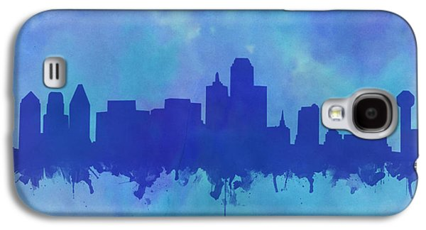 Dallas Skyline Blue 2 Galaxy S4 Case