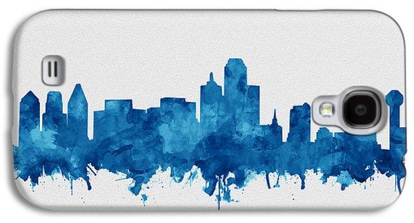 Dallas Skyline Blue Galaxy S4 Case