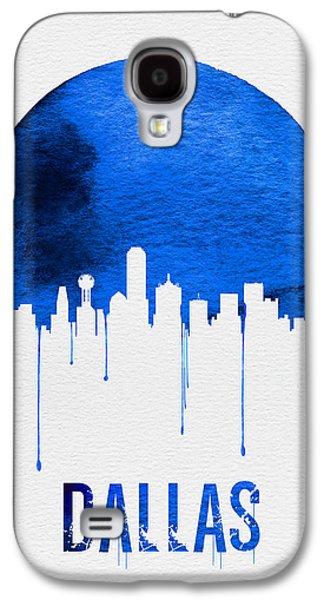 Dallas Skyline Blue Galaxy S4 Case by Naxart Studio