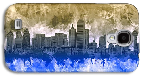 Dallas Skyline Brush Strokes Galaxy S4 Case