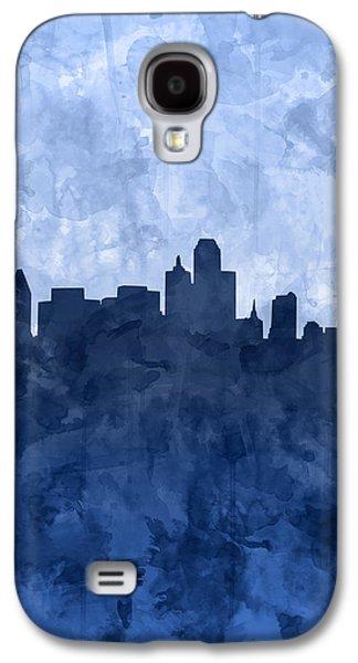 Dallas Skyline Grunge Blue Galaxy S4 Case