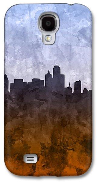Dallas Skyline Grunge Galaxy S4 Case