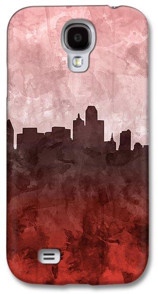 Dallas Skyline Grunge Red Galaxy S4 Case