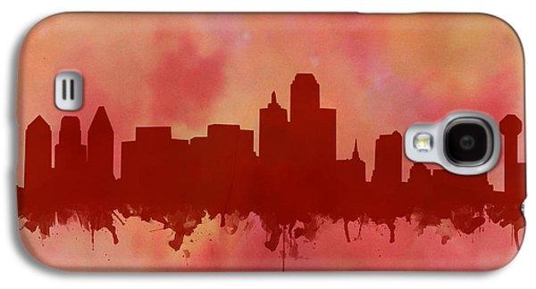 Dallas Skyline Red 2 Galaxy S4 Case