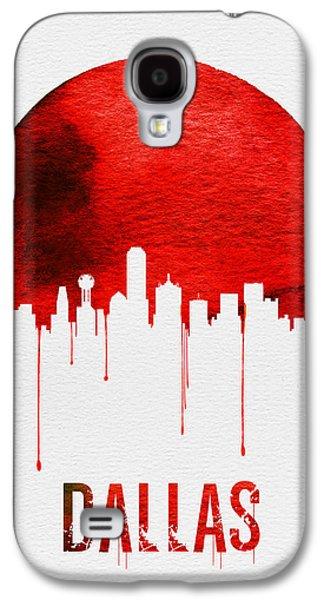 Dallas Skyline Red Galaxy S4 Case by Naxart Studio