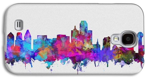 Dallas Skyline Watercolor 4 Galaxy S4 Case