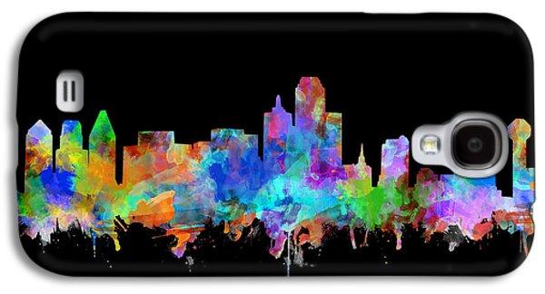 Dallas Skyline Watercolor 5 Galaxy S4 Case