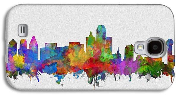 Dallas Skyline Watercolor 6 Galaxy S4 Case