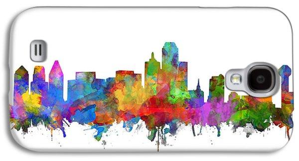 Dallas Skyline Watercolor 7 Galaxy S4 Case