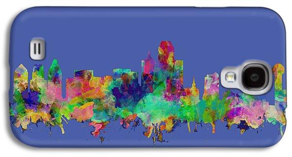 Dallas Skyline Watercolor Galaxy S4 Case
