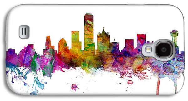 Dallas Texas Skyline Panoramic Galaxy S4 Case