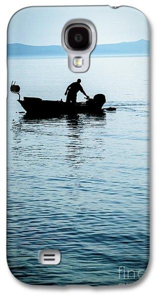 Dalmatian Coast Fisherman Silhouette, Croatia Galaxy S4 Case