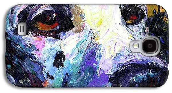 Dalmatian Dog Close-up Painting By Galaxy S4 Case
