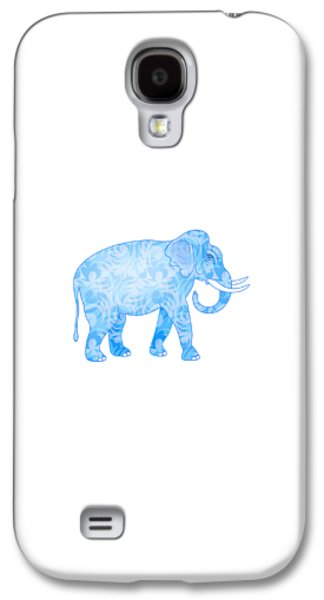 Damask Pattern Elephant Galaxy S4 Case