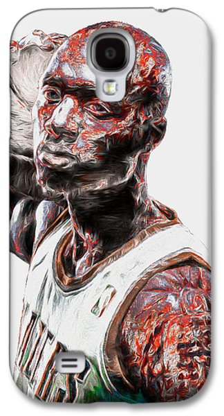 Damian Lillard Portland Trailblazers Digital Painting 25 Galaxy S4 Case