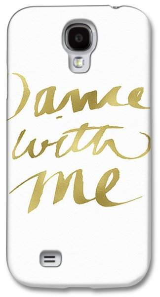 Dance With Me Gold- Art By Linda Woods Galaxy S4 Case by Linda Woods