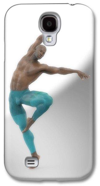 Dancer With Blue Leotard Galaxy S4 Case