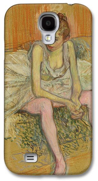 Dancer With Pink Stockings Galaxy S4 Case by Henri de Toulouse-Lautrec