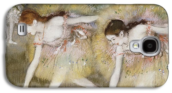 Dancers Bending Down Galaxy S4 Case by Edgar Degas