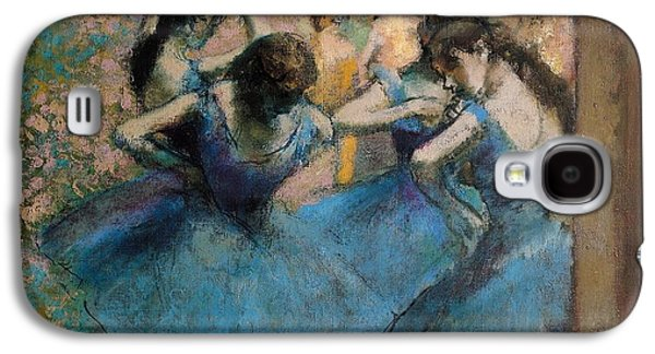 Impressionism Galaxy S4 Case - Dancers In Blue by Edgar Degas