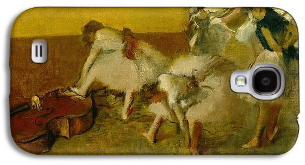 Dancers In The Green Room Galaxy S4 Case by Edgar Degas