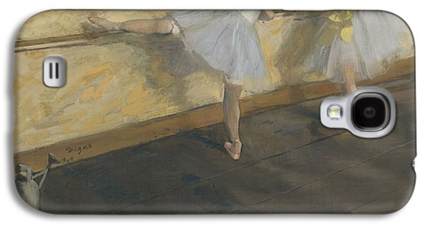 Dancers Practising At The Barre, 1877 Galaxy S4 Case by Edgar Degas