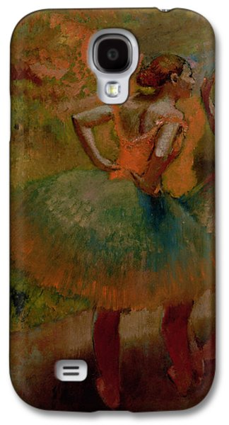 Dancers Wearing Green Skirts Galaxy S4 Case by Edgar Degas
