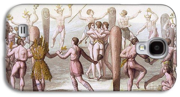 Dances Of The Native Inhabitants Of Virginia Galaxy S4 Case by Italian School