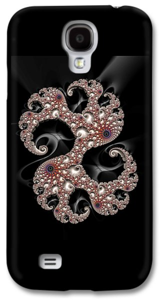Dancing Fractal Spirals With Beautiful Colors Galaxy S4 Case by Matthias Hauser