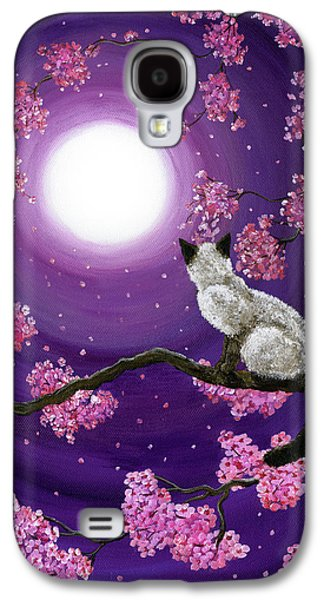 Cherry Blossoms Paintings Galaxy S4 Cases - Dancing Pink Petals Galaxy S4 Case by Laura Iverson