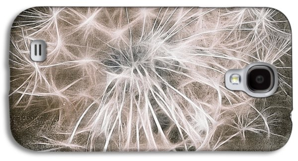Aimelle Prints Galaxy S4 Cases - Dandelion in Brown Galaxy S4 Case by Aimelle