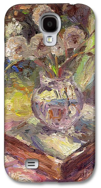 Dandelions Flowers In A Vase Sunny Still Life Painting Galaxy S4 Case by Svetlana Novikova