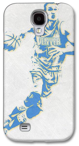 Danilo Gallinari Denver Nuggets Pixel Art Galaxy S4 Case by Joe Hamilton