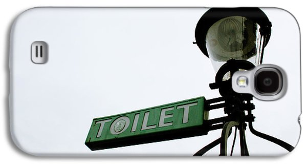 Gift Galaxy S4 Case - Danish Toilet Sign by Linda Woods